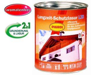 Langzeit-Schutzlasur, Farbton: teak, 2,5 ltr. Gebinde