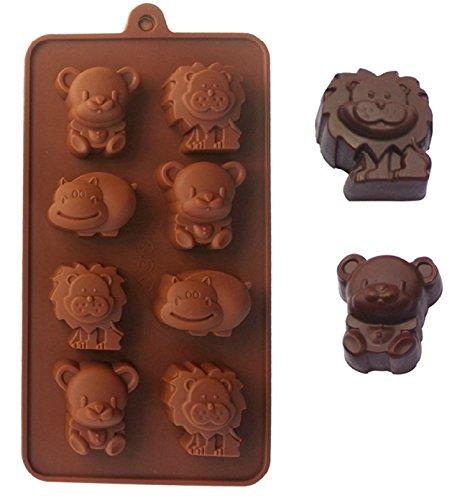Fantasyday® stampo in silicone per dolci a forma di carina animali, 1 pezzi silicone muffin sapone handmade stampi per cubetti di ghiaccio, biscotti, tortini, cioccolato, dolci - silicone antiaderente, adatto ad alte e basse temperature