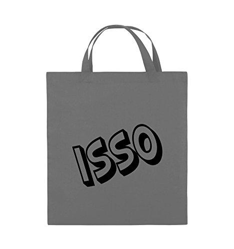 Comedy Bags - ISSO - COMIC SCHIEF - Jutebeutel - kurze Henkel - 38x42cm - Farbe: Schwarz / Pink Dunkelgrau / Schwarz