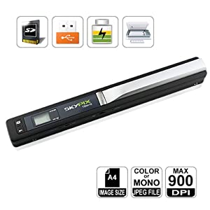 HooToo-SKYPIX Mini Scanner manuale portatile, 900 dpi, alta risoluzione, senza fili 900 DPI