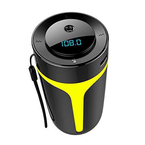 JFZJFZ Hohe Qualität 300 ml Luftaroma Luftbefeuchter FM Transmitter Bluetooth 50 Audio Player für Zuhause Auto mit LED Nachtlampe