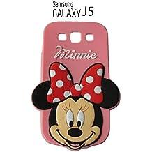 Suave 3D Disney Minnie piel funda Cover Carcasa Cubierta Caso Case Skin de silicona para el teléfono móvil para Samsung Galaxy J5