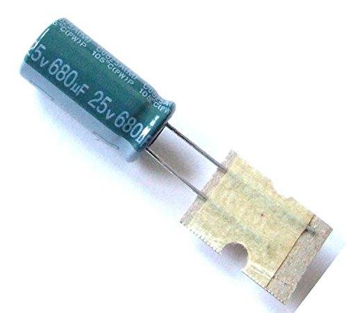 10x Elko Kondensator 680uF 25V Radial Low Esr - Low Impedance 105C/E-Capacitor Low-esr-cap
