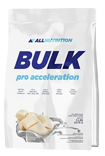 ALLNUTRITION Bulk Pro Accleration Aufbau der Muskelmasse Training Sport Bodybuilding (2270g White Chocolate - Weiße Schokolade) -