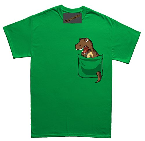 Renowned Scary Dinoaur tyrannosaurus rex in my pocket Unisex - Kinder T Shirt Grün