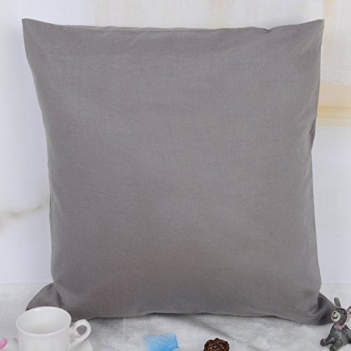 100% Baumwolle Kissenbezug Kissenhülle Kissen Bezug Hülle Bezüge Dekokissen Sofakissen 30x50cm (Dunkel)grau