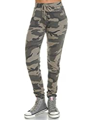Fire Fire Damen Chino Hose Stretch Camouflage High Waist Hosen 21343