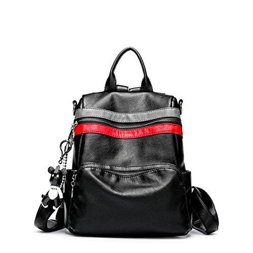 Weibliche Tasche Weiches Leder Schultertasche Schulter Handtasche Mädchen Student Reise Multifunktionale Lässige Tasche C