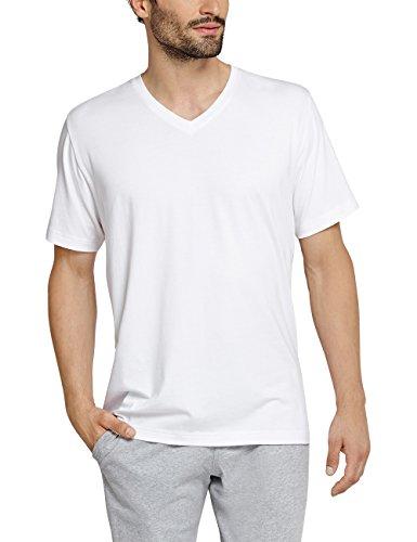 Anspruchsvolle Tagwäsche (Schiesser Herren Schlafanzugoberteil Mix&Relax Shirt Kurzarm, Weiß (Weiss 100), Large (Herstellergröße: 052))