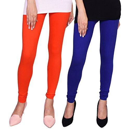 VOEUX INDIA Women's Cotton Lycra Leggings Combo (Pack of 2\u00A0)