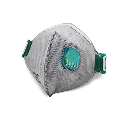 Ndier Maschera anti-inquinamento Respiratore morbido maschera antipolvere maschera protettiva naso e bocca maschera per lavoro, sport, uso esterno 5pcs Fai da te DIY