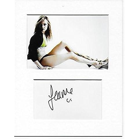 Top Of The Pops–Fearne algodón mano original y auténtico firmado autógrafo AFTAL COA