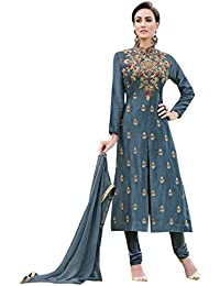 Viva N Diva Women's Semi Stitched Salwar Suit Party Wear Dress Cambric Cotton Semi Stitched Suit