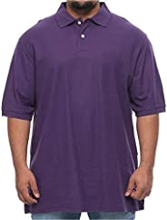 Harbor Bay Big and Tall Pique Polo Short Sleeve Shirt for Men