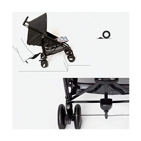 Baby stroller can sit reclining folding light portable mini ultra light small stroller cart 50 * 101 * 84cm lttc EASY RIDE FOR YOUR BABY OR TO: The ltyec Modular Travel System features new Cruiser Tires to provide your child with a smooth ride, while also making the stroller effortless to push with its ergonomic handles Designed for travel, the stroller is lightweight, has a fast, one-hand fold, and stands on its own when folded. An oversized canopy with flip-out visor and peek-a-boo window provides shade and airflow on sunny days and a convenient basket under the seat provides storage for baby items. 5