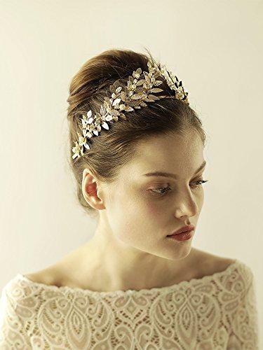 Blätterkrone, Haarkrone, im Stil einer Griechischen Göttin, Lorbeerblätter-Tiara, Krone–römischer Kopfschmuck, Brautschmuck Hochzeitsaccessoire