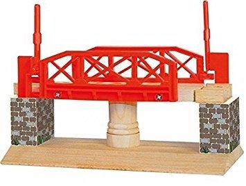 Woodyland Columpio móvil Puente puente con parada automática Holzeisenbahn ACCESORIOS