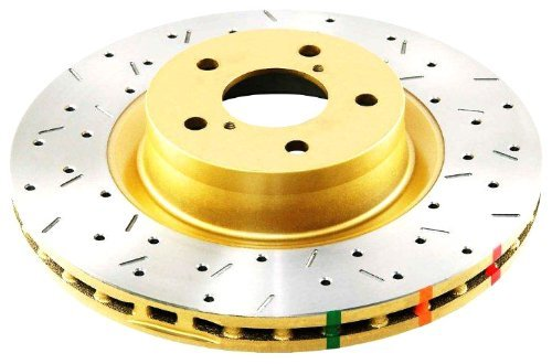 DBA DBA42709XS 4000 Series XS Premium Cross-Drilled and Slotted Front Vented Disc Brake Rotor by (4000 Car Series)