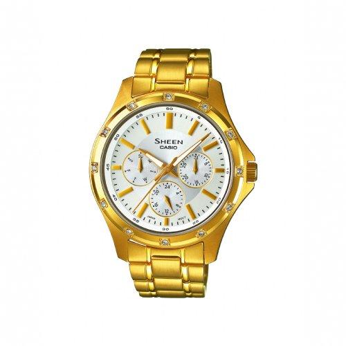 Casio Ladies' Sheen Gold Tone Bracelet Watch - SHE-3801GD-7ADR