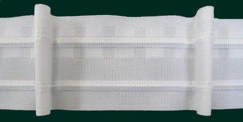 Ruther & Einenkel Faltenband mit 1 Falte, 50 mm, weiß, 150% / Aufmachung 10 m -