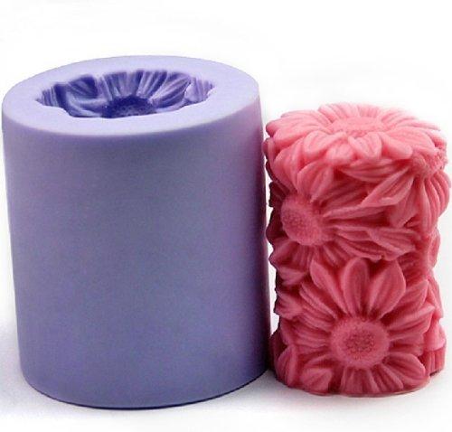 Romote Blumen-Kerze-Form-Silikon-Seifen-Form-Kerze-Form-DIY Kerzenherstellung Mold