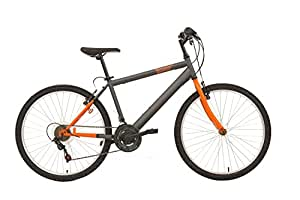 """F.lli Schiano Mountain Bike Thunder Bicicletta, da Uomo, Grigio/Arancio Opaco, 26"""""""