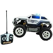 Prextex - Coche de Policía Teledirigido Monster Truck Juguete Radio Control Para Niños, Control Remoto Rc Con Luces - Mejor Regalo de Navidad Para Niños de 8 a 12 Años