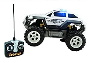 Prextex Remote Control Monster Police Truck Radio Control Police Car Toys 8-12 Year