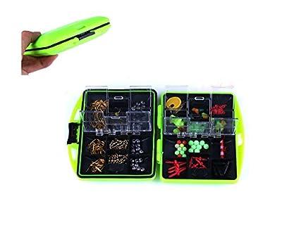 1 Set HENGJIA Carp Fishing Accessories Catfish Freshwater Fishing Tackle Box Utility Box Hooks Swivels from HENGJIA