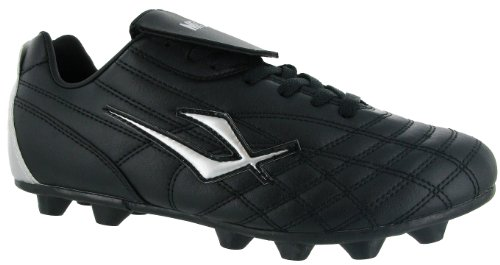 Mirak Mens Forward Lace Moulded Grip Sole Football Rugby Boot Black