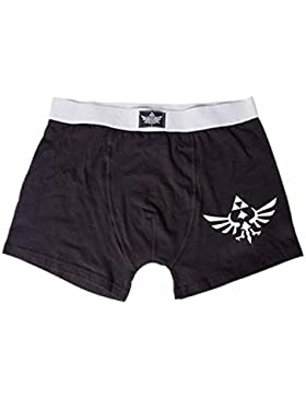 Nintendo The Legend Of Zelda - Logo Boxer Nero/Grigio Xl