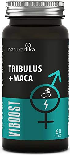 VIBOOST Tribulus terrestris + Maca andina capsulas - Booster de testosterona hombre pura - Recuperador muscular e Impulsor de la fuerza y la resistencia con maca polvo, tribulus, rhodiola y zinc