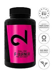 Idea Regalo - DUAL Pro F-BURNER | Anche Senza Sport | Per Donne E Uomini | 100 Capsule Vegan |Complesso Di Sostanze Attive|Senza Additivi Aggiuntivi|Alte Dosi| 100% Naturale|Per Vegani E Senza Glutine| Made In EU