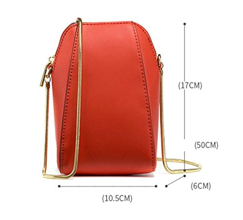 FZHLY Nuovo Mini Spalla Coreana In Pelle Shell Pacchetto Messenger Bag,PigeonGray CherryPowder