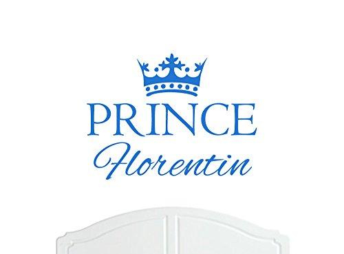 Prince Florentin Grand sticker mural avec décoration de la paroi de la Couronne, Stickers Muraux, Papier Peint, Choix de Couleurs en Vinyle