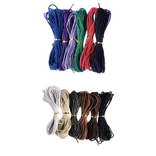 F Fityle Cuerda Hilo de Algodón Encerado Cordón para Collar Pulsera Abalorios de Joya Bricolaje