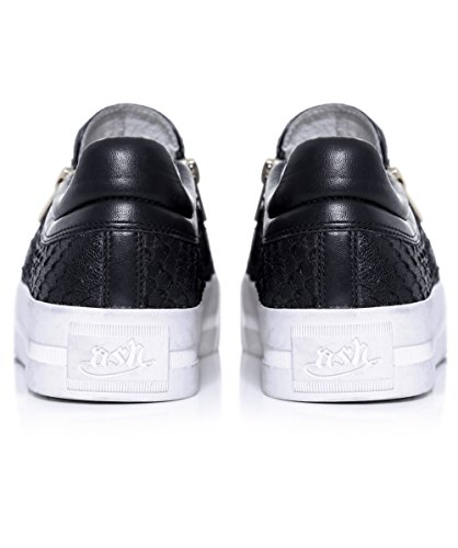Ash Chaussures Jordy Baskets en Cuir Gris Femme Black