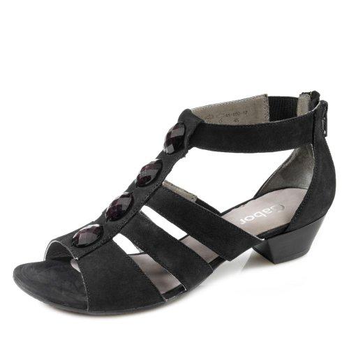 Gabor Shoes 2455221 Damen Knöchelriemchen Sandalen Schwarz ... 2ae91ec203