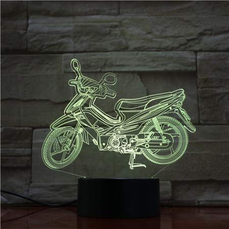Coole Motorrad 716 Farbe 3D-LED-Nachtlicht Schlaf Geburtstagsfeier Schlafzimmer Lichter lieben 3D-1850
