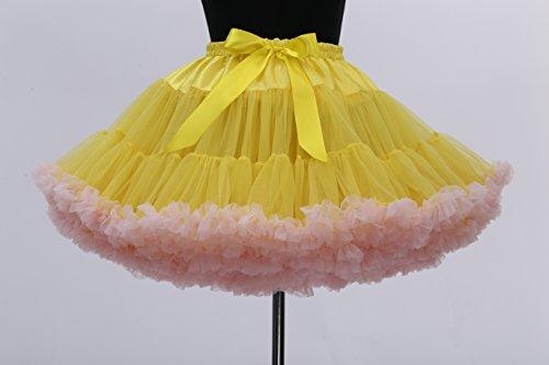 FOLOBE di ballo di balletto del costume di Tutu delle donne di 40cm / 16  yellowpink