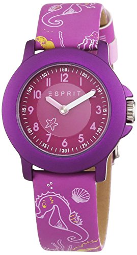 Esprit Unisex Watch Sea Playground ES103454013 Analogue Display and Purple Leather