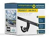 Weltmann AHK Kit Complet pour Peugeot 308 SW II Kombi Brink Starre Attelage de...
