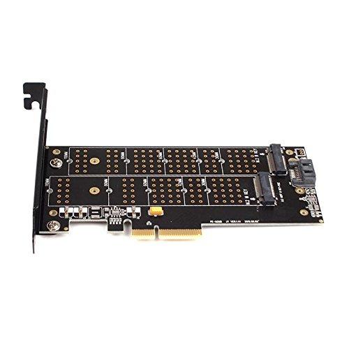 calistouk doble puerto NGFF M.2B + M Key SSD a PCI Express PCI-E 4x tarjeta adaptador