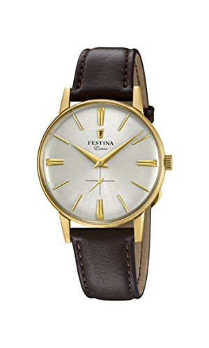 Festina Herren Analog Quarz Uhr mit Leder Armband F20249/1