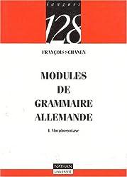 Modules de grammaire allemande : Morphosyntaxe