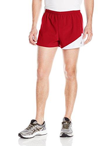 1/2 Split Shorts (ASICS Herren Gunlap 1/2 Split Shorts S rot/weiß)