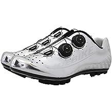DUBAOBAO Zapatillas de Bicicleta de montaña de Fibra de Carbono, Zapatas ultraligeras de Bicicleta Unisex