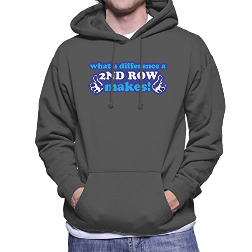 What A Difference A 2nd Row Makes Men's Hooded Sweatshirt Charcoal
