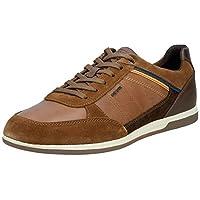 Geox U Renan, Men's Fashion Sneakers, Brown (Browncotto/Brown C0235), 40 EU