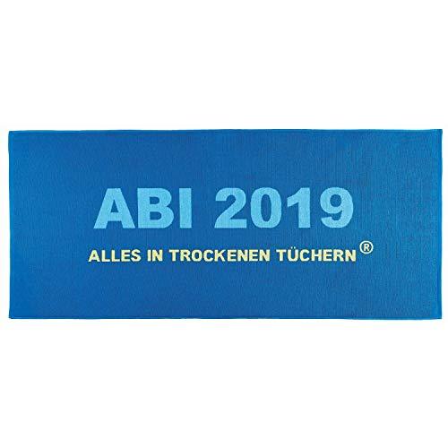 trandtuch ABI 2019 Blau Abitur Geschenk 75 cm x 180 cm ()